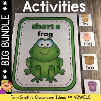 Vowel Sorting Center Games, Printables and More Bundle