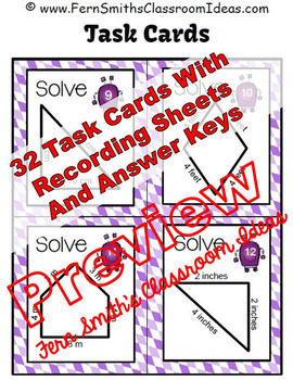 Perimeter Center Games, Task Cards and Printables Bundle