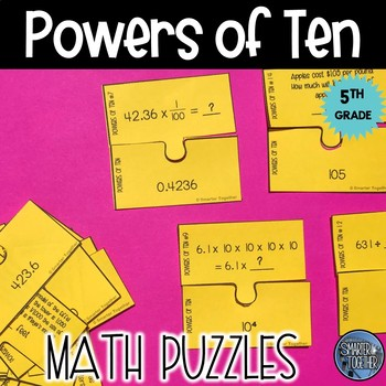 Powers of 10 Puzzle Activity