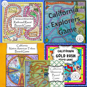 Discounted Game Board Bundle:Ca.Native Americans, Missions