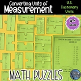 Measurement Conversion Puzzle Activity - US Customary Units