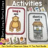 Vowel Sorting - Short a Short e Long a Long e Center Games, Printables and More