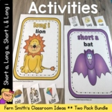 Vowel Sorting - Short a Short i Long a Long i Center Games, Printables and More