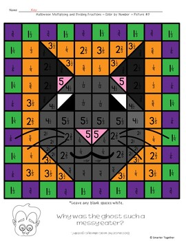 Multiplying and Dividing Fractions Halloween Activity