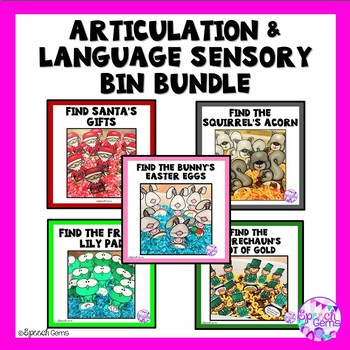 Articulation and Language Sensory Bin Bundle