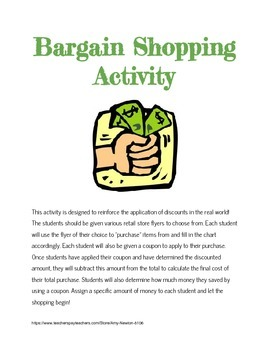 Discounts: Bargain Shopping Activity