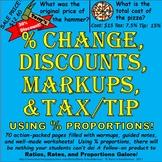 Markup Percent, Discount, Percent Change (Increase/Decreas