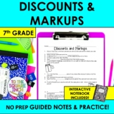 Discounts and Markup Notes