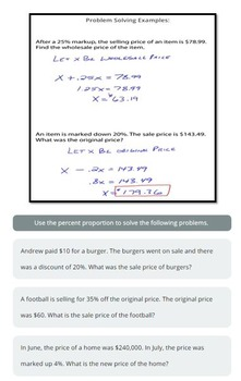 Discounts and Markups (Percent Proportion)