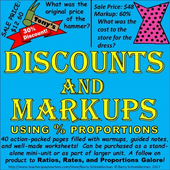 Discounts And Markups Sale Price Original Price Markup And