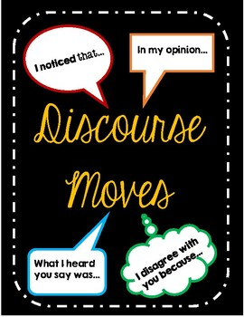 Discourse Moves - Sentence Frames