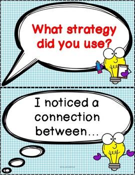 Discourse cards/Conversation starters/ Math elementary