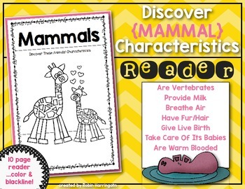 Discover Animals {Mammals} Science Reader for First Grade