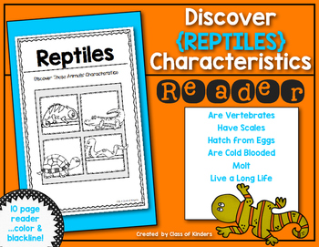 Discover Animals {Reptiles} Science Reader for First Grade