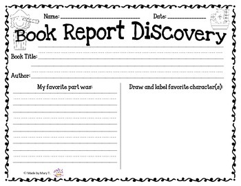 Discover Book Report