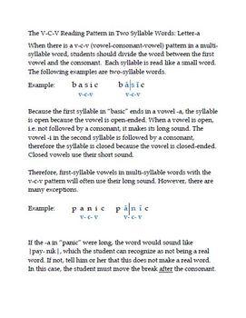 Discover Decoding: V-C-V and V-C-C-V Patterns With the Letter -A