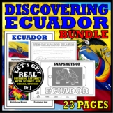 ECUADOR: Discover ECUADOR and the GALAPAGOS ISLANDS Bundle