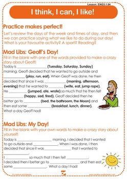 Discover English - Level 3 (ESL) Lesson Plans & Worksheets