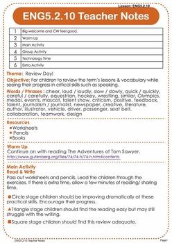 Discover English - Level 5 (ESL) Lesson Plans & Worksheets