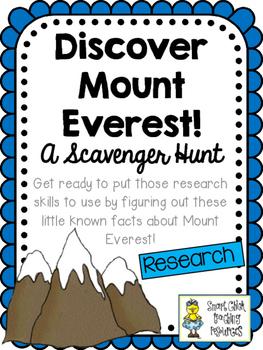 Discover Mount Everest!   Scavenger Hunt Activity and KEY