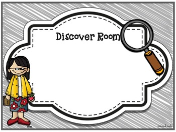 Discover Room ___ : A Scavenger Hunt for Open House/Back to School Night