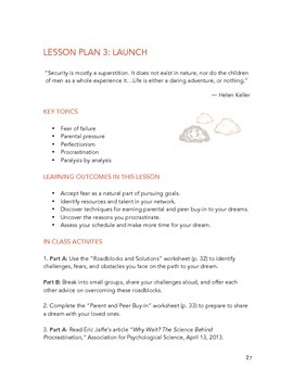Career Curriculum - Discover Your Dream Job (Lesson Plan 3: Launch)