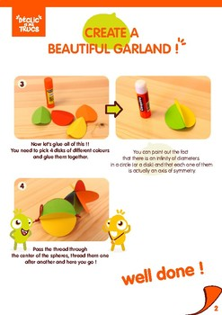 Discover circles and make a beautiful garland !