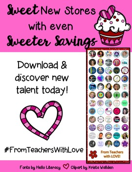 Discover sweet new stores with even sweeter savings! #FromTeachersWithLove