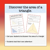 Discover the area of a triangle