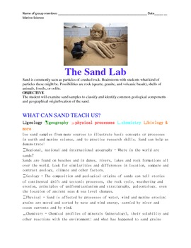 Discoveries in Marine Science Hands-On Sand Laboratory