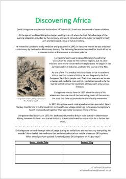 Discovering Africa - Dr Livingstone