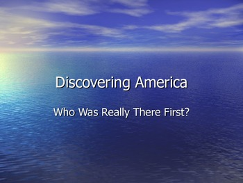 Discovering America First