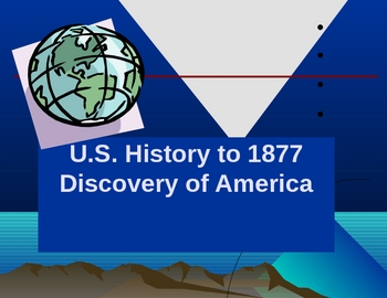 Discovering America and its Population