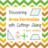 Discovering Area Formulas for Parallelograms Triangles & Trapezoids - Cut & Glue