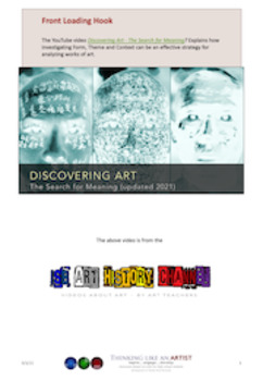 Discovering Art -  Effective Strategies for Analyzing and Writing about Art