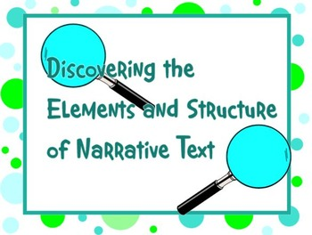 Discovering Elements of Narrative Text