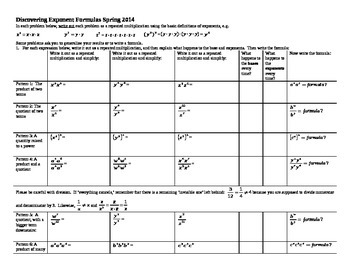 Discovering Exponent Formulas Spring 2014 (Editable)