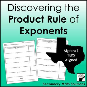 Exponents - Product Rule Discovery Activity