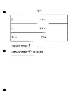 Discovering French 2 Blanc Unit 3 lesson 11 boire stem cha