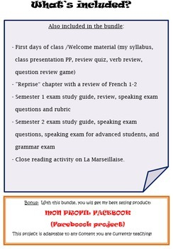 Discovering French Blanc Curriculum Bundle - My ENTIRE Year of Teaching Material