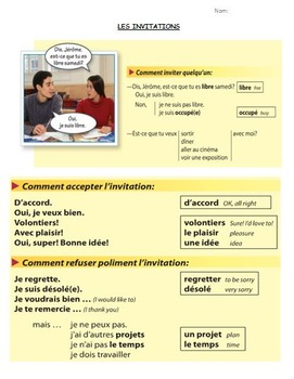 Discovering French Blanc Lecon 13:  LES LOISIRS ET LES SPECTACLES Vocab Packet