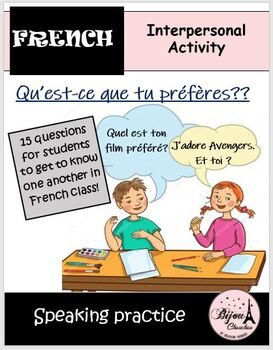 Discovering French Blanc - Lecon 13: Partner Speaking Activity