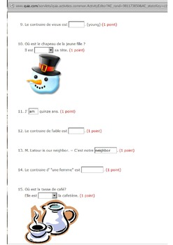 Discovering French Blanc Quia quiz activities - 94 activities