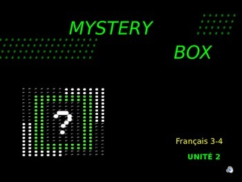 Discovering French Blanc - Unite 2: MYSTERY BOX REVIEW GAME OF ENTIRE UNIT 2
