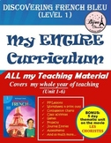 Discovering French Bleu Curriculum Bundle - My ENTIRE Year of Teaching Material