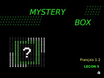 Discovering French Bleu - Lecon 5: Mystery Box -Awesome Power Point Review Game