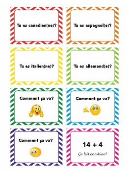 Discovering French Bleu, Lesson 1, task cards, speaking in French