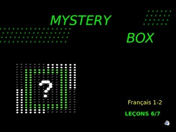 Discovering French Bleu (Level 1): Lecons 6 & 7- Mystery Box Review Game