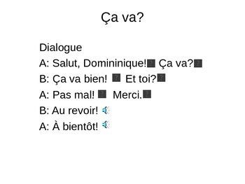 ça va? Discovering French Bleu PowerPoint
