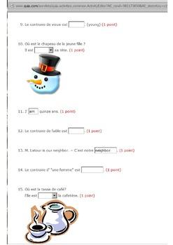 Discovering French Bleu  Quia quiz activities - 70 activities